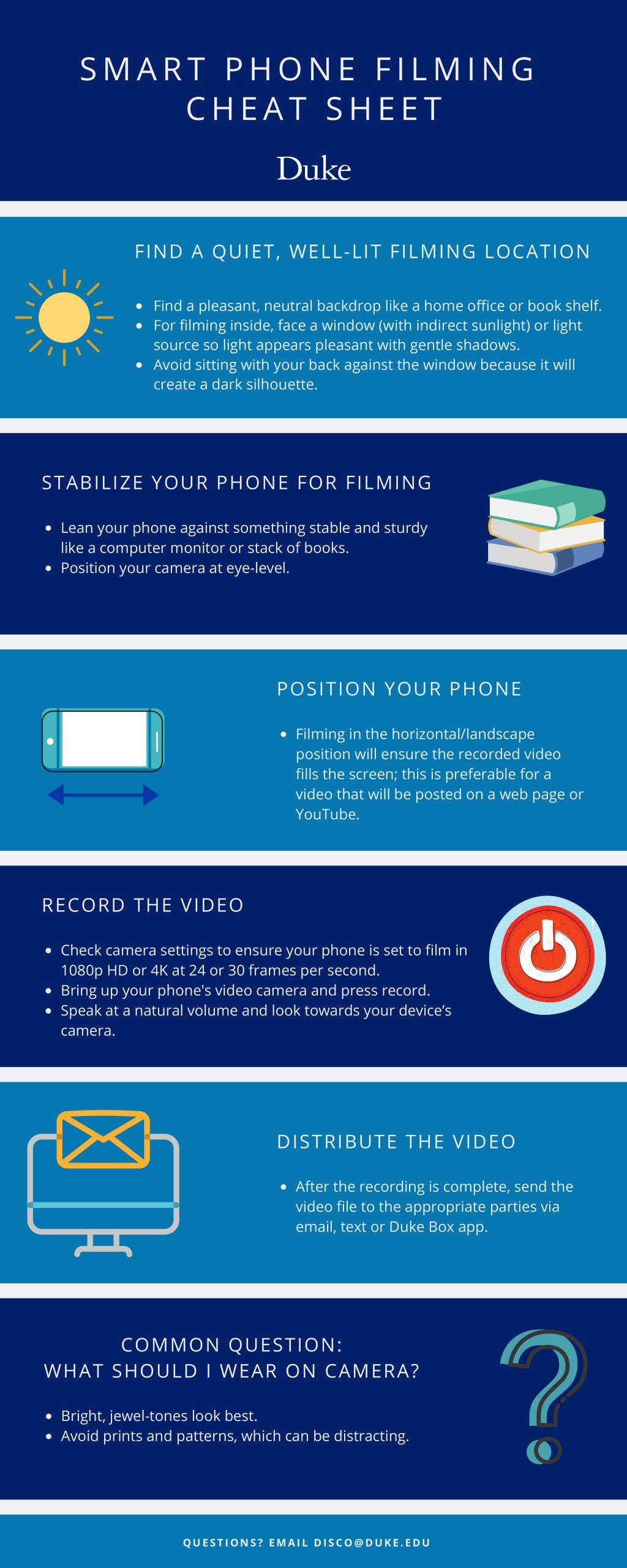 Smart Phone Filming Cheat Sheet